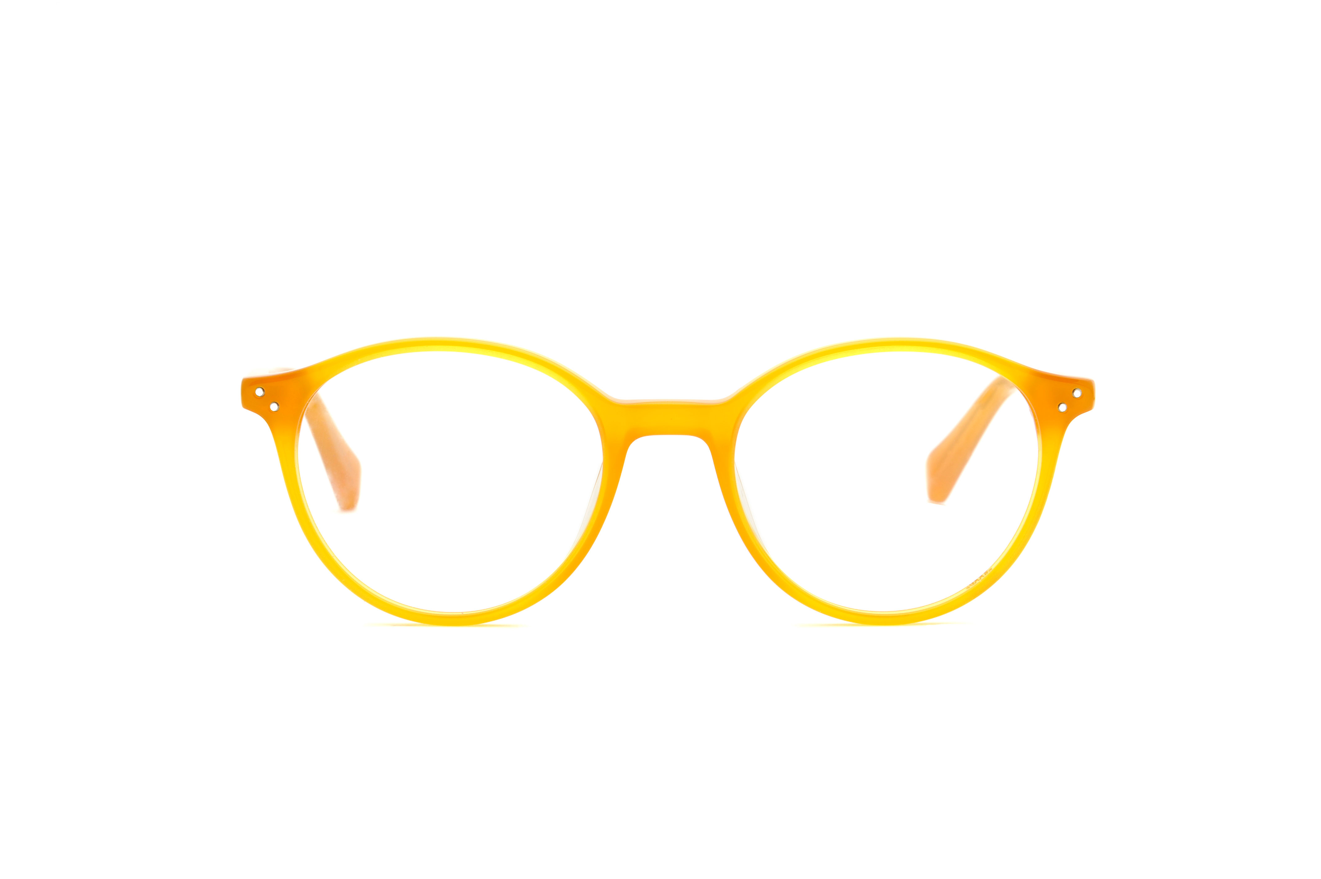 Brooks acetate rounded yellow sunglasses by GIGI Studios