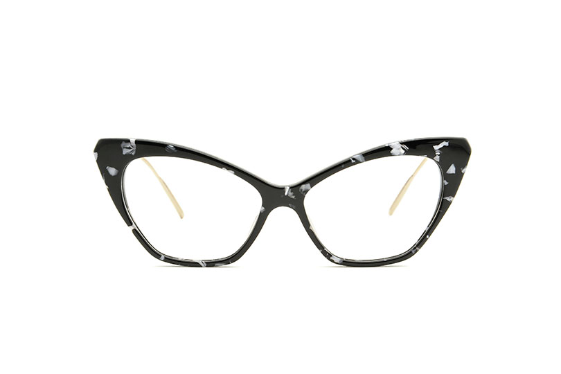 Chloe acetate cat eye black sunglasses by GIGI Studios