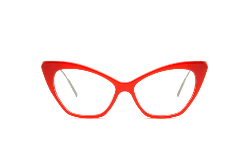 Chloe acetate cat eye red sunglasses by GIGI Studios