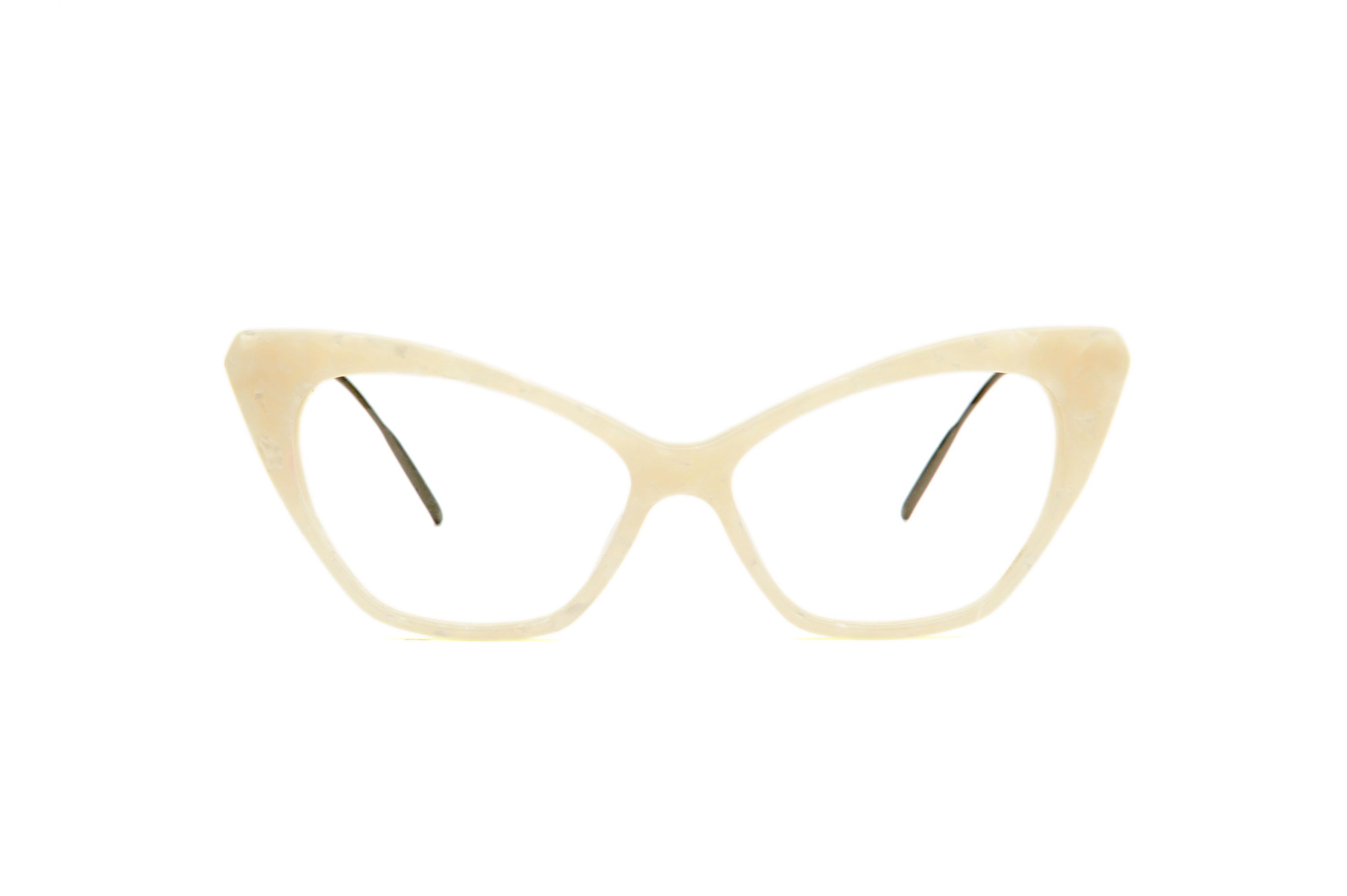 Chloe acetate cat eye white sunglasses by GIGI Studios