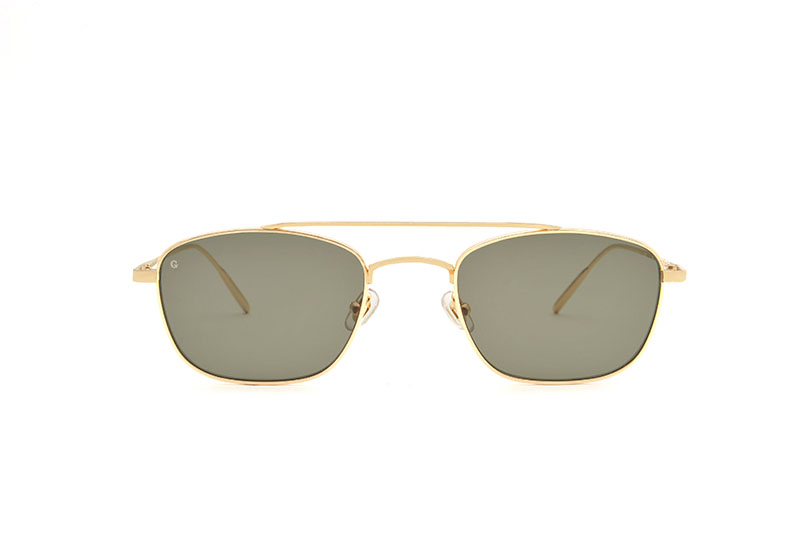 New York metal aviator gold sunglasses by GIGI Studios