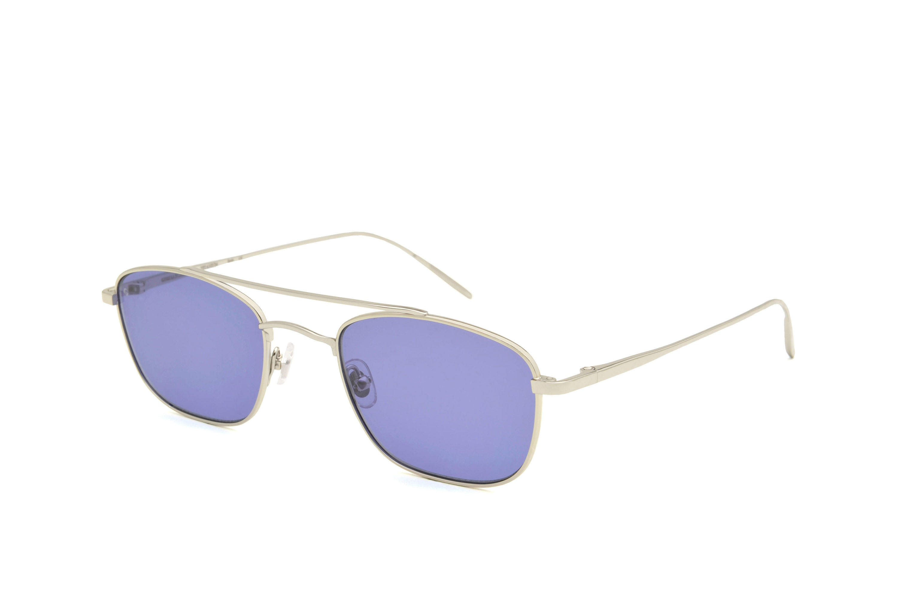 New York metal aviator silver sunglasses by GIGI Studios