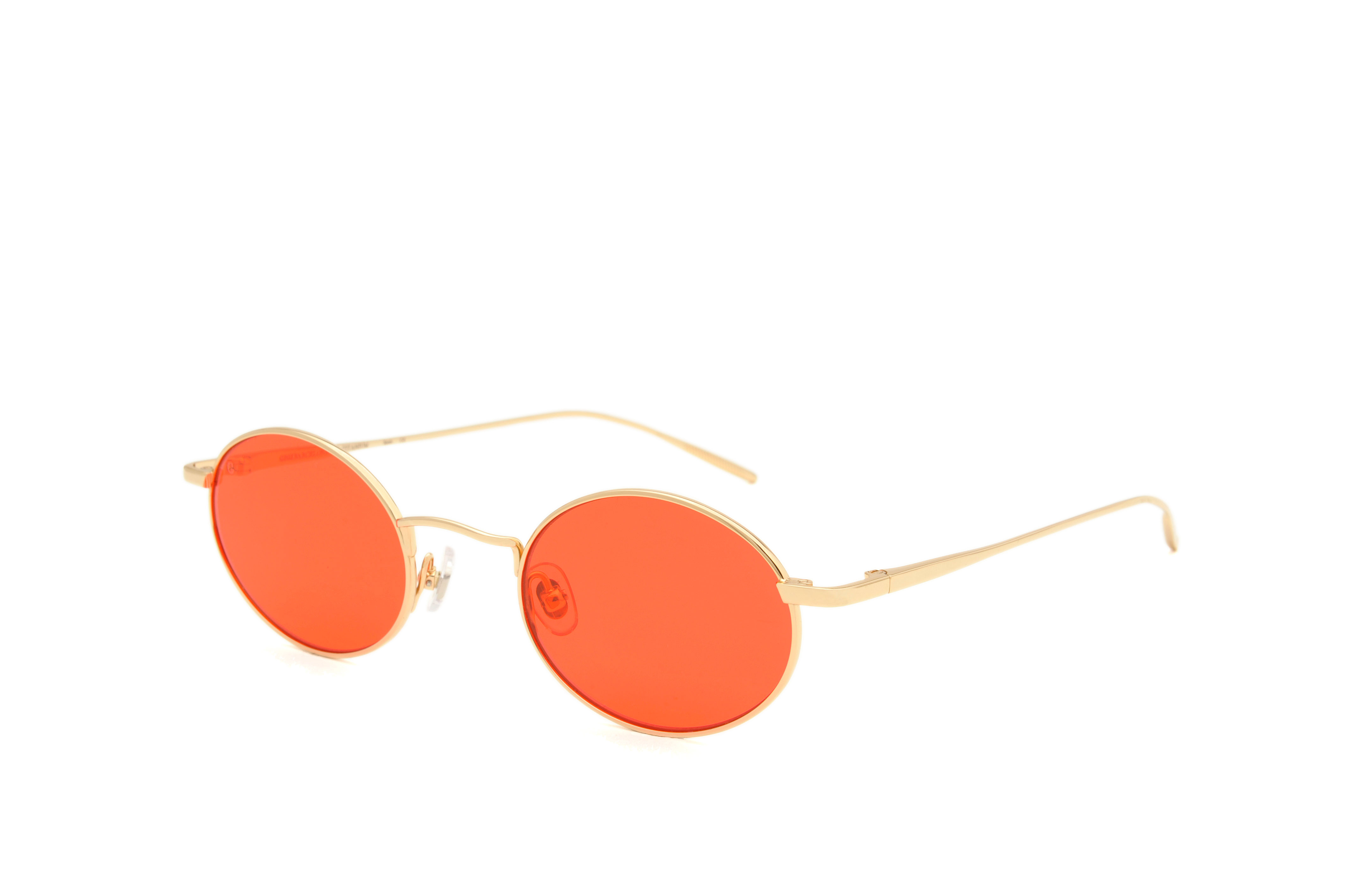 Roma metal rounded gold sunglasses by GIGI Studios
