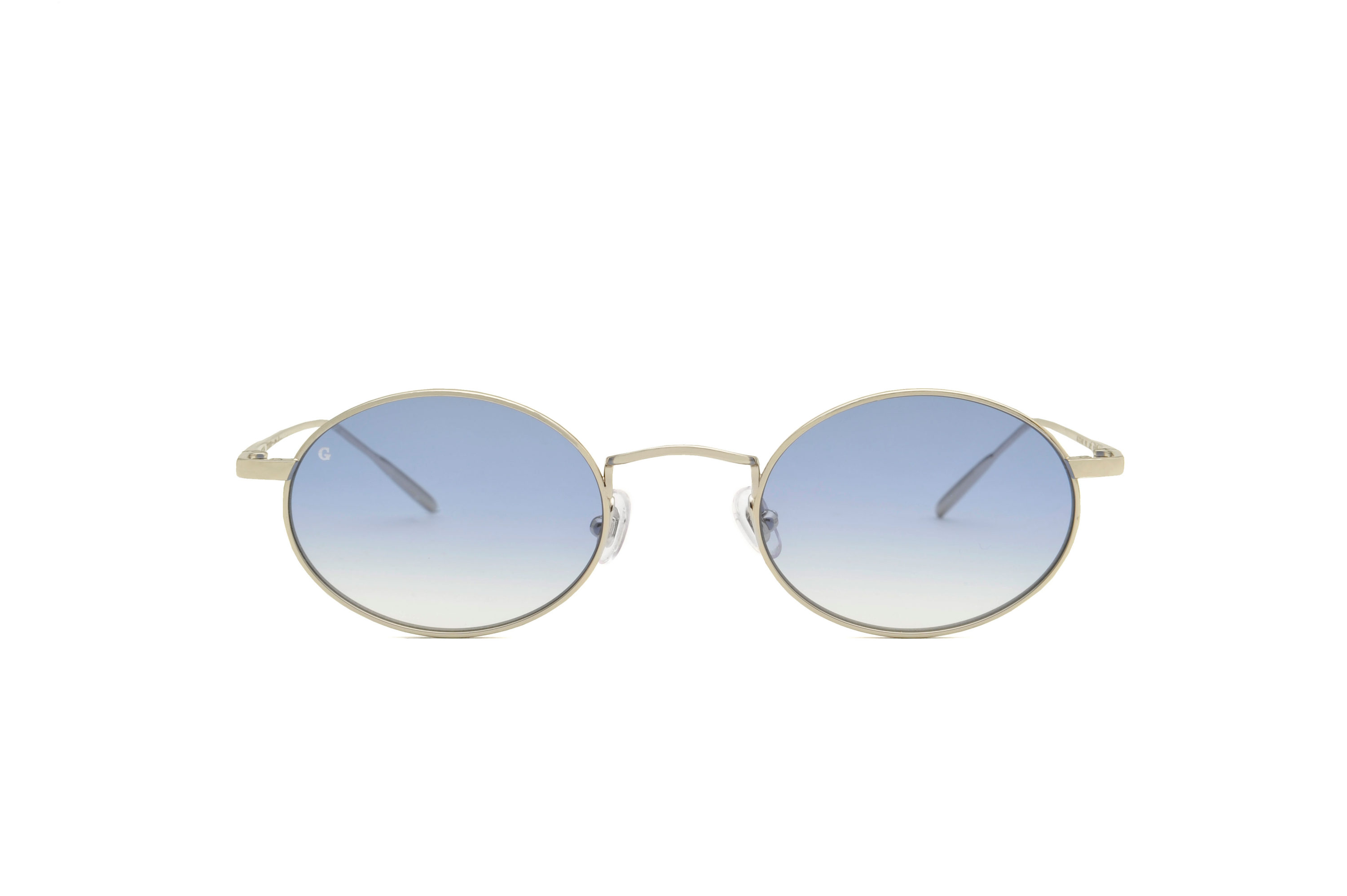 Roma metal rounded silver sunglasses by GIGI Studios