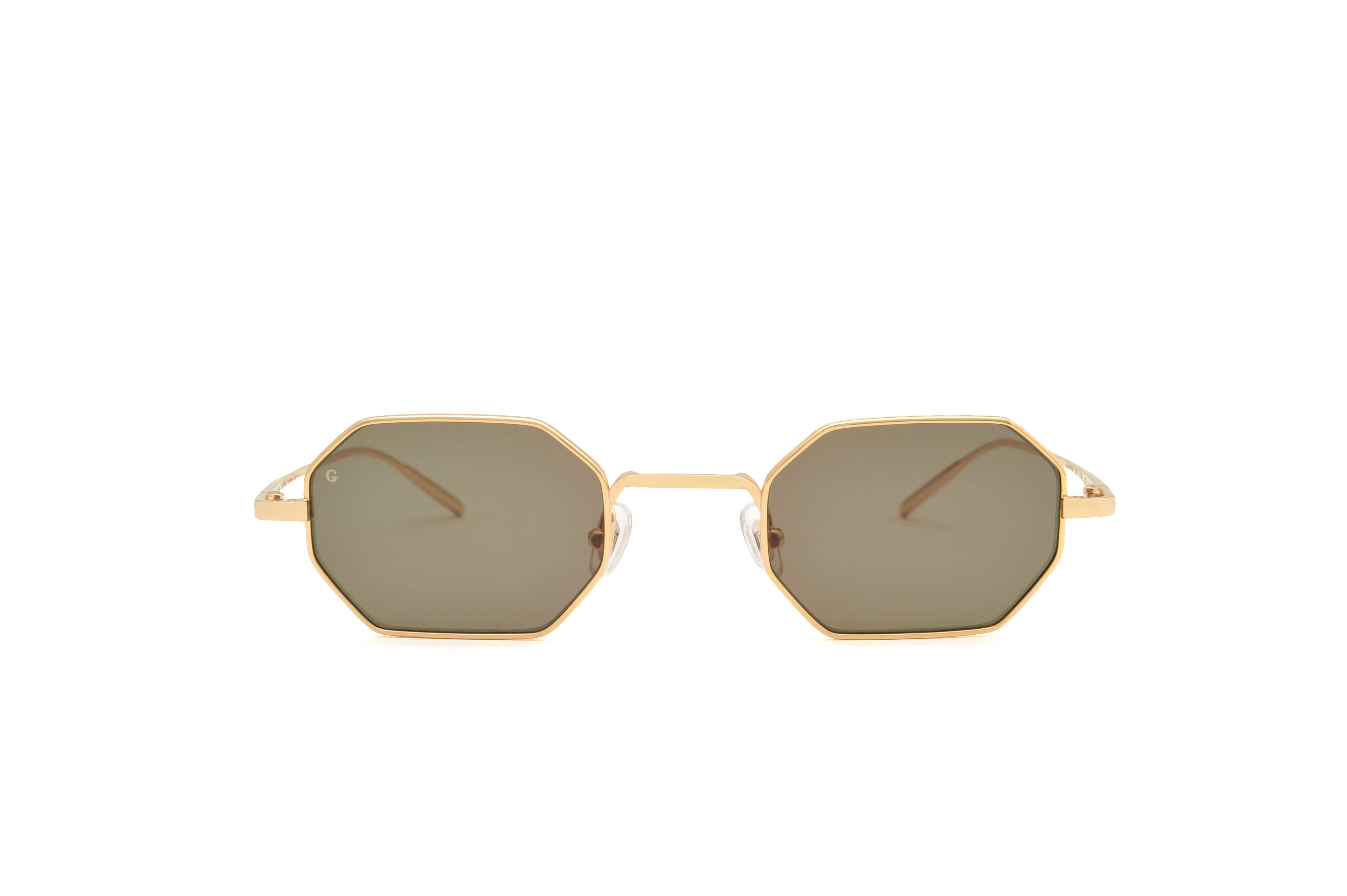 Ibiza metal geometric gold sunglasses by GIGI Studios