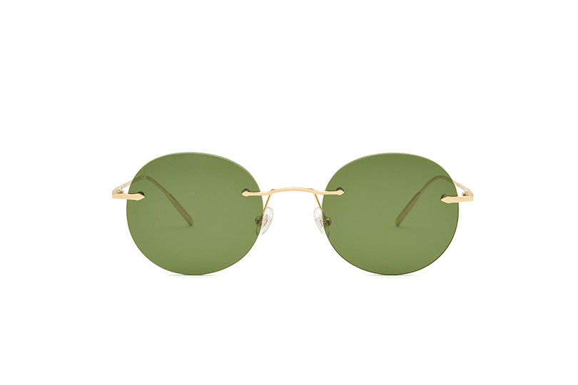 Dubai metal rounded gold sunglasses by GIGI Studios