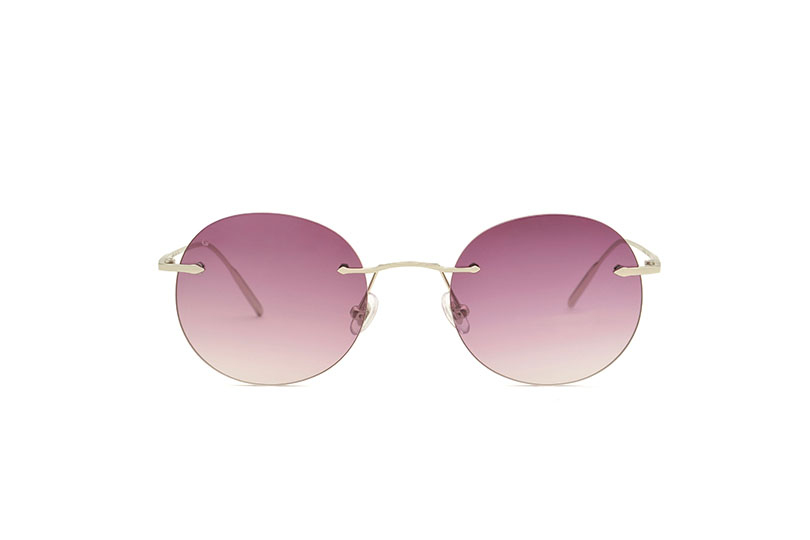 Dubai metal rounded silver sunglasses by GIGI Studios