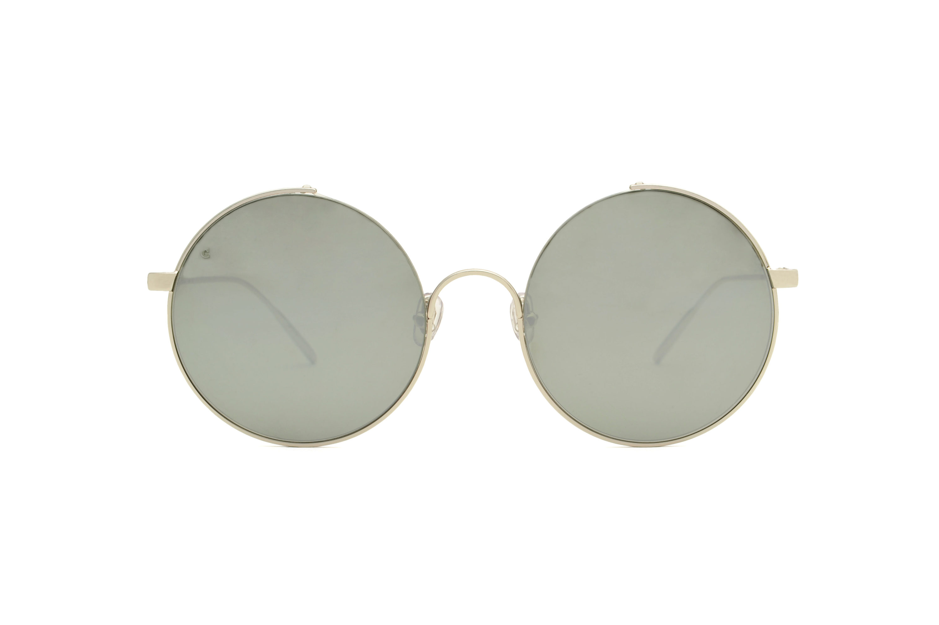 Bali metal rounded silver sunglasses by GIGI Studios