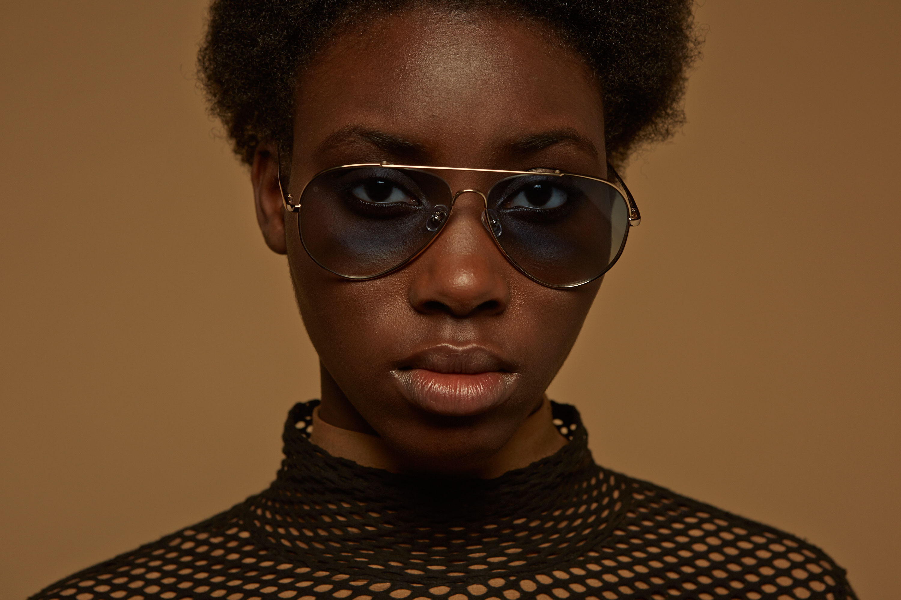 Habana metal aviator gold sunglasses by GIGI Studios