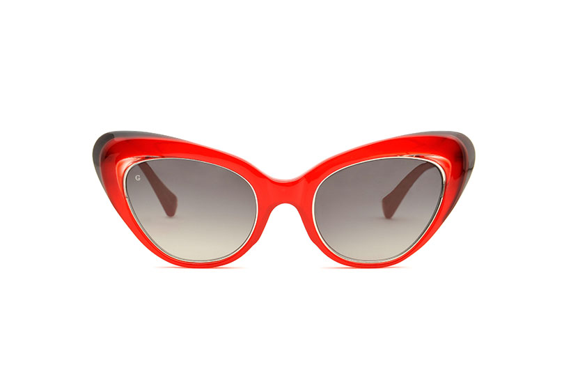 Valley acetate cat eye red sunglasses by GIGI Studios