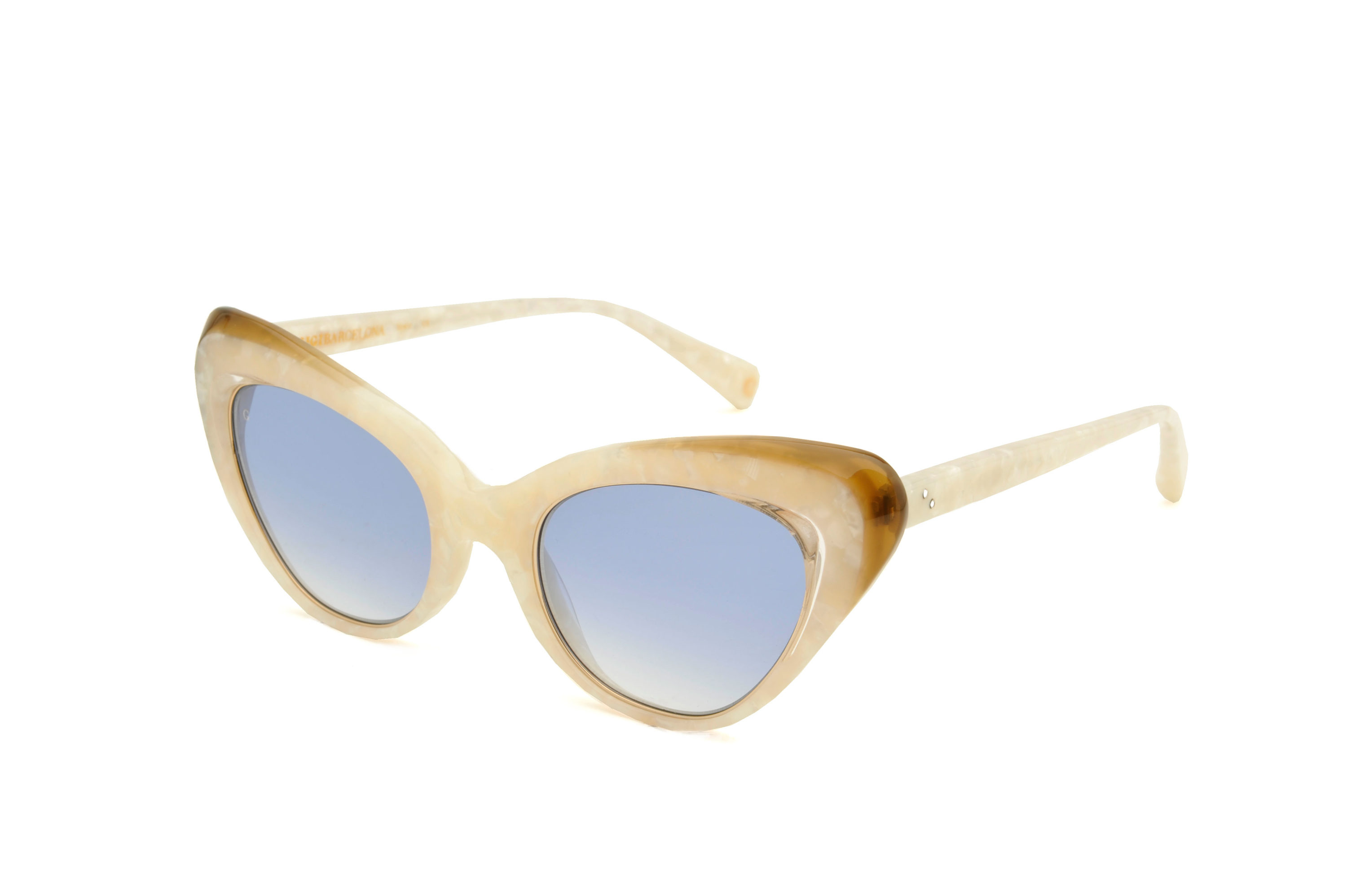 Valley acetate cat eye white sunglasses by GIGI Studios