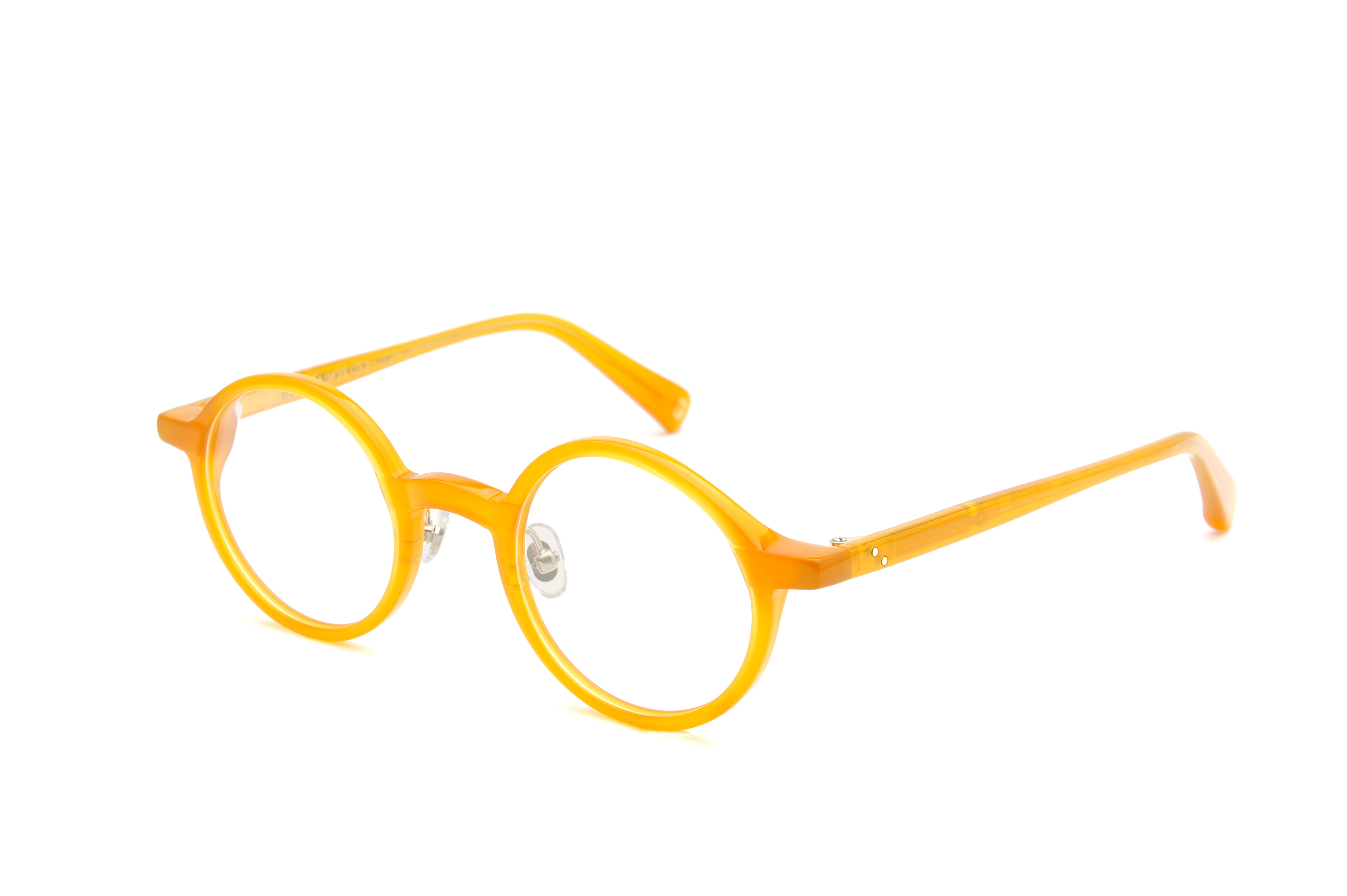 Grey acetate rounded yellow sunglasses by GIGI Studios