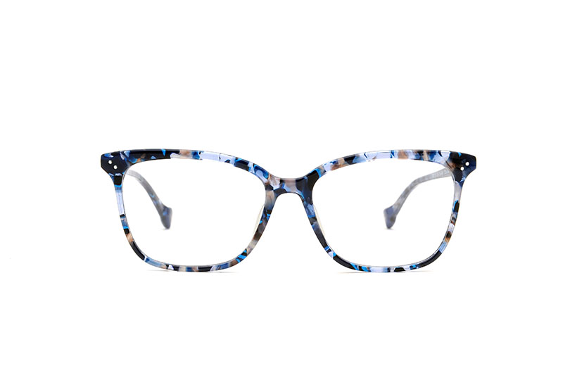Never acetate squared blue sunglasses by GIGI Studios