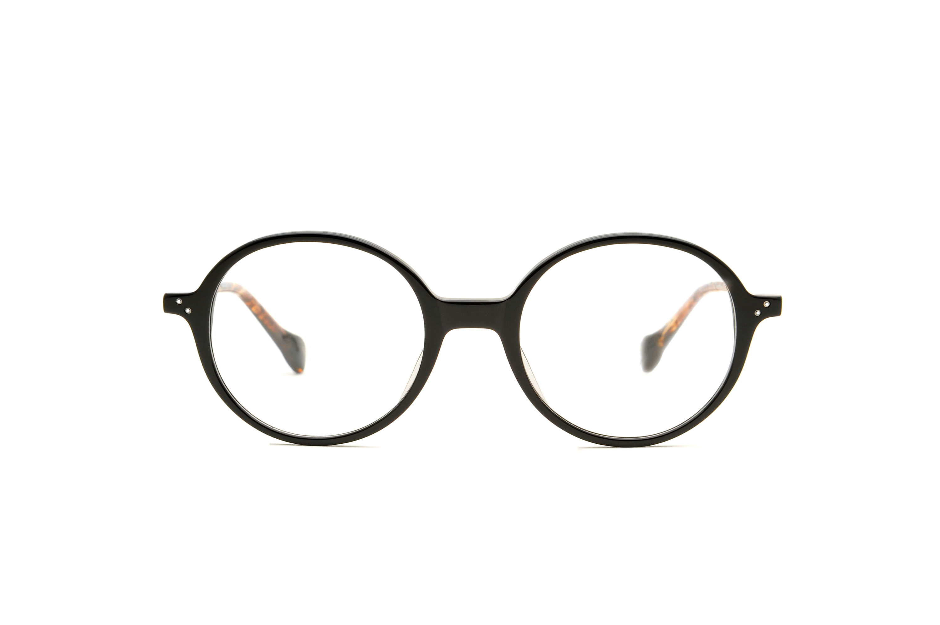 Kingdom acetate rounded black sunglasses by GIGI Studios