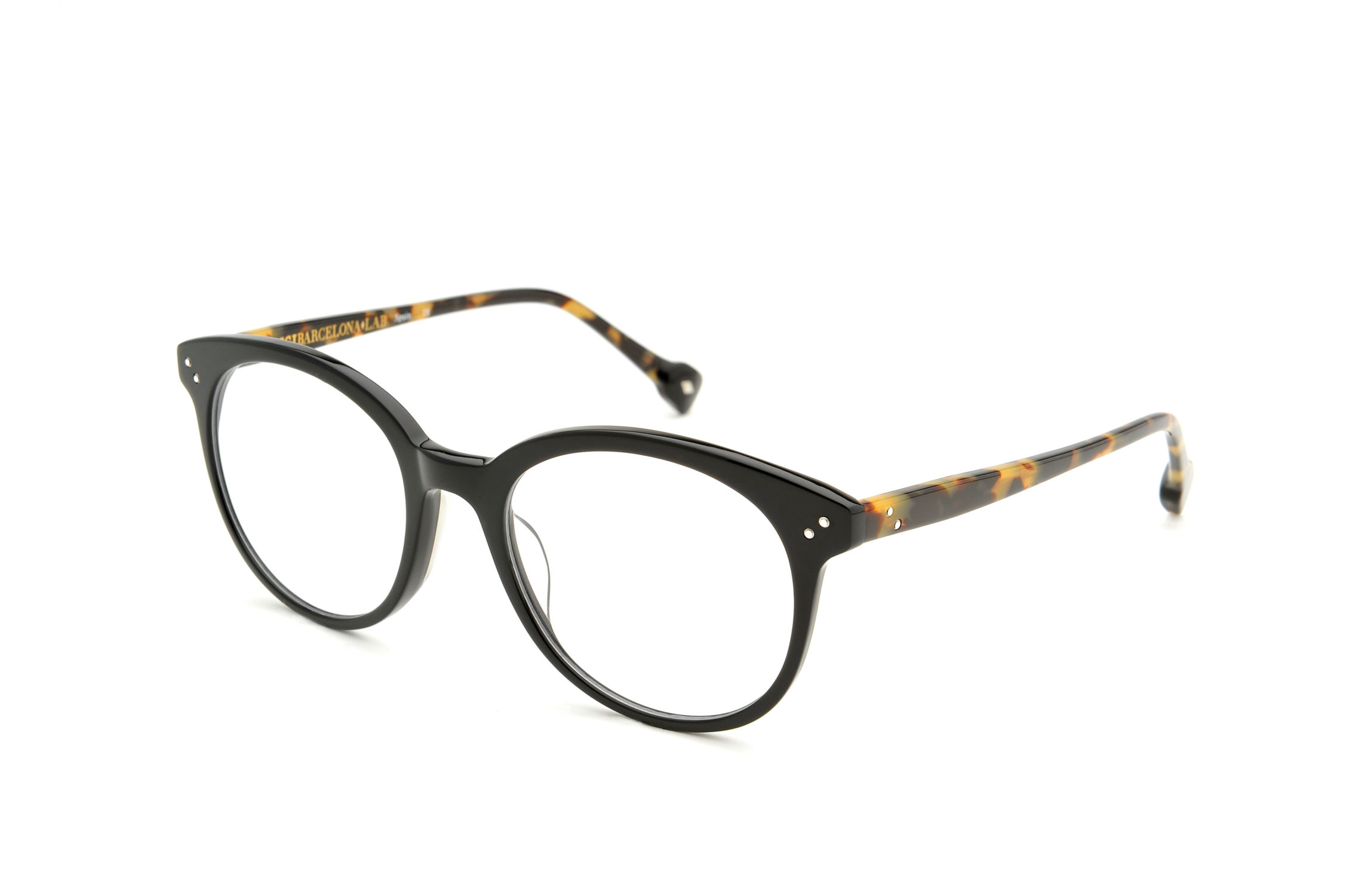 Mitra acetate rounded black sunglasses by GIGI Studios