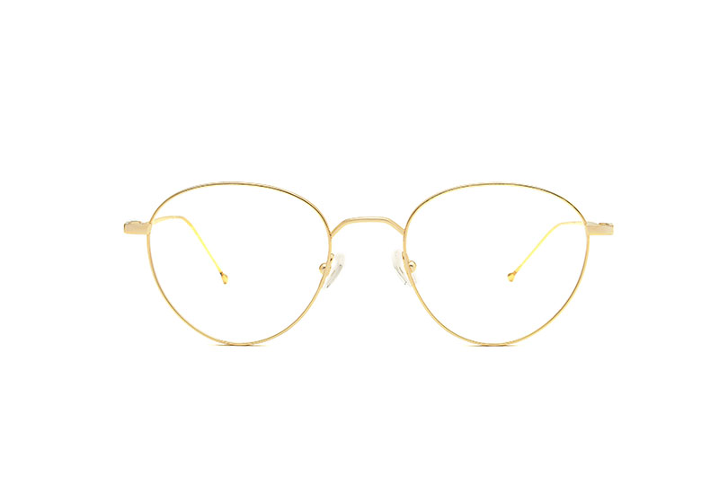 Origin titanium rounded gold sunglasses by GIGI Studios