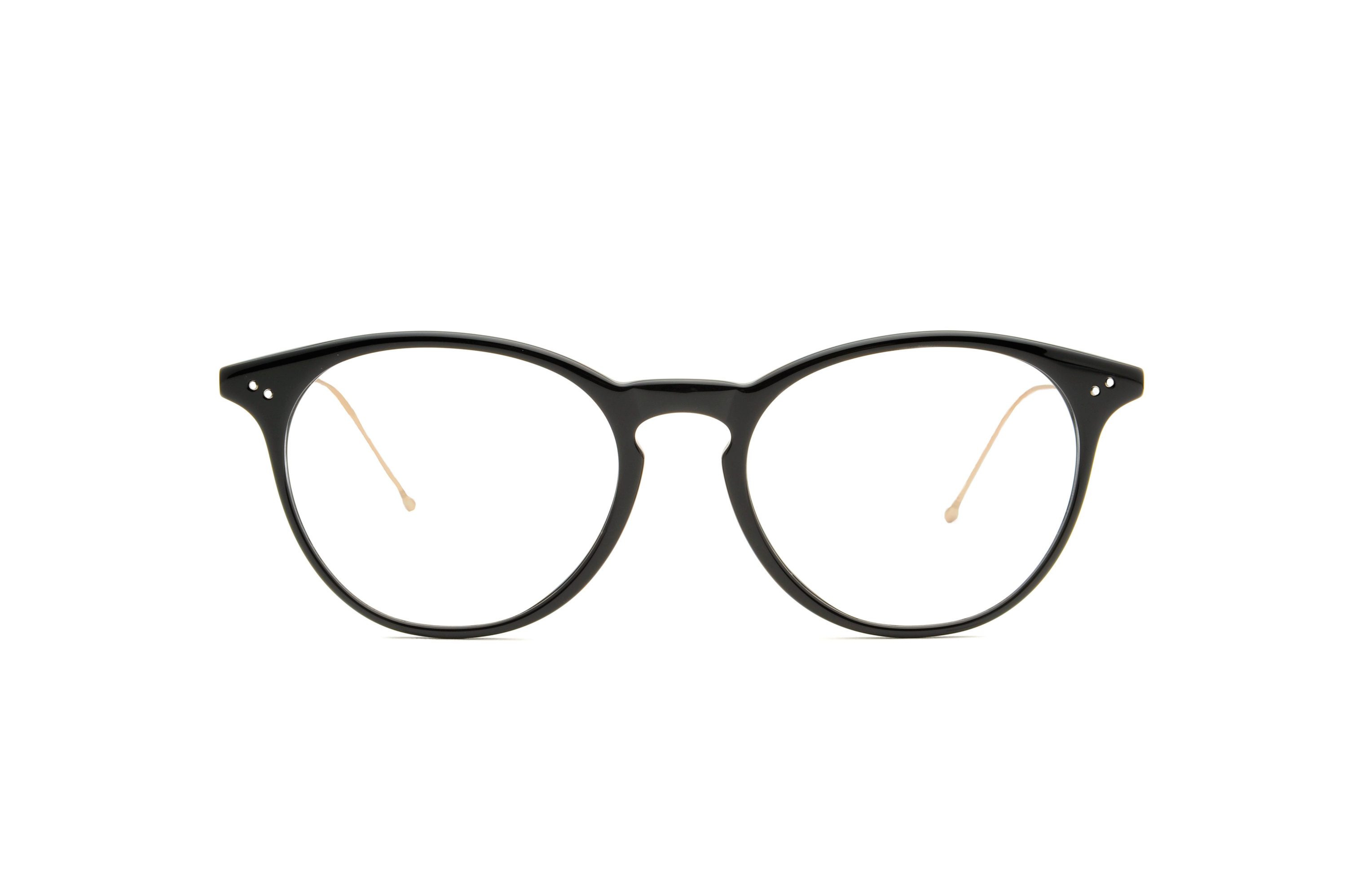 Flow acetate rounded black sunglasses by GIGI Studios