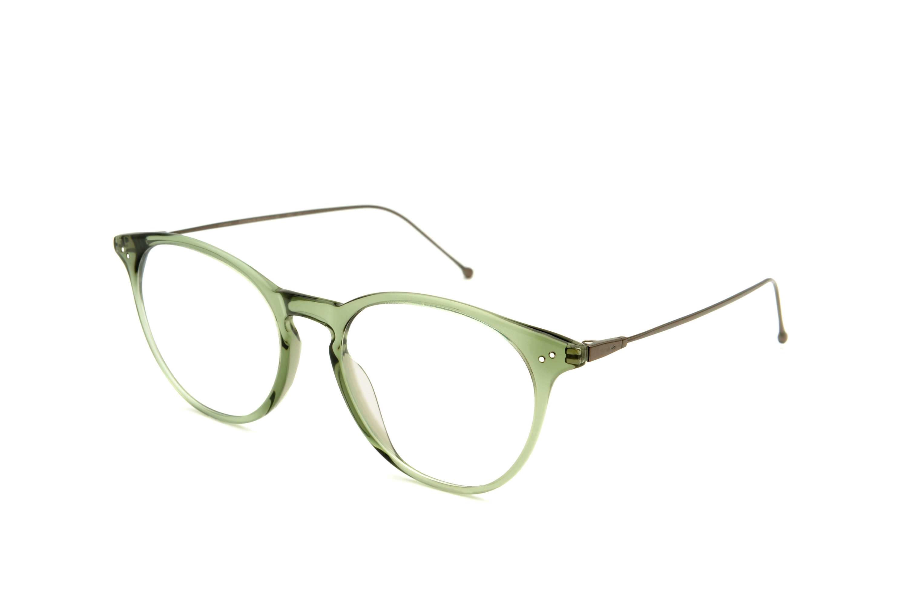 Flow acetate rounded green sunglasses by GIGI Studios
