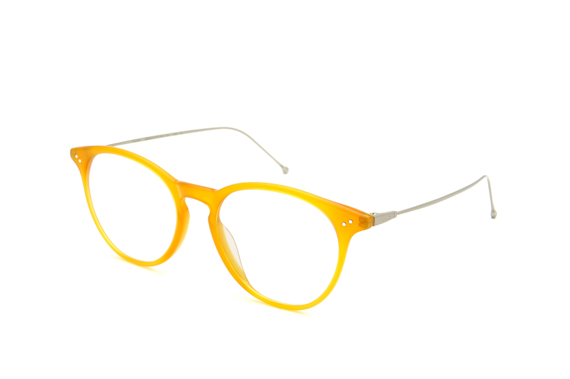 Flow acetate rounded yellow sunglasses by GIGI Studios