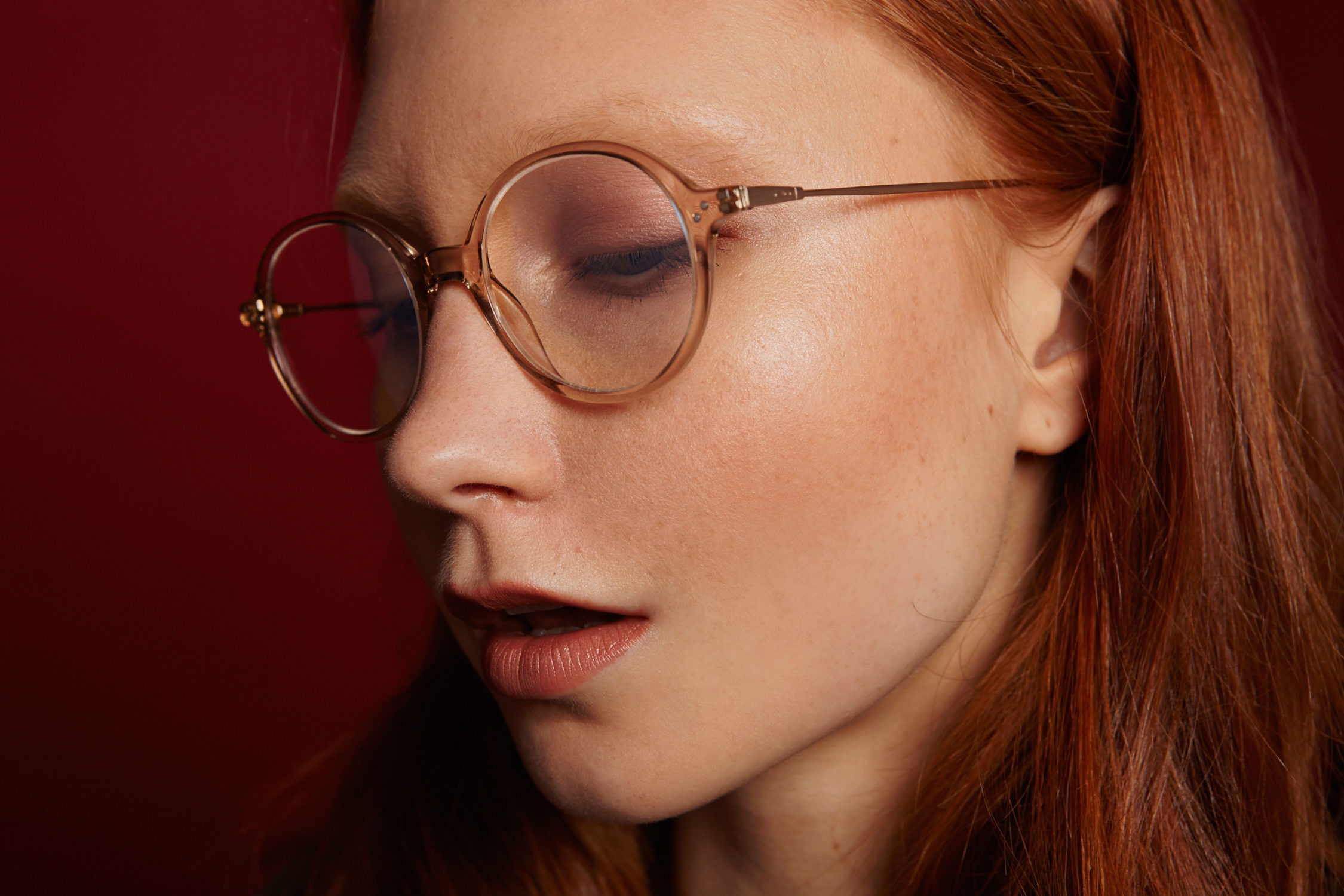 Kingdom acetate rounded crystal sunglasses by GIGI Studios