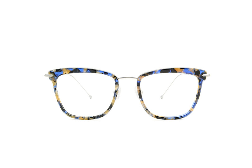 June acetate/metal cat eye blue sunglasses by GIGI Studios