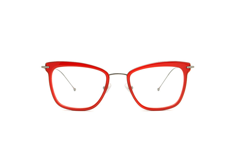 June acetate/metal cat eye red sunglasses by GIGI Studios