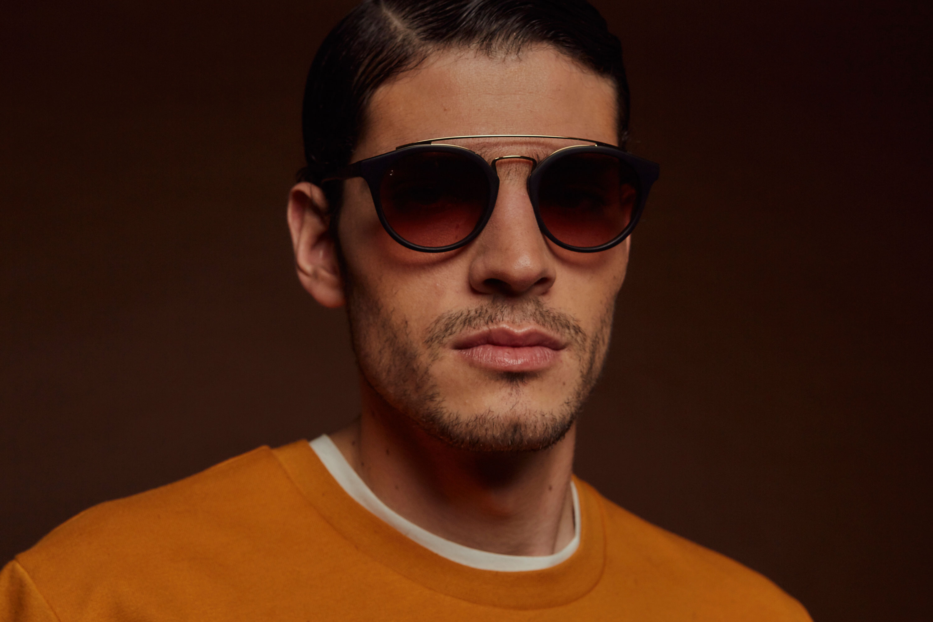 Bukowski acetate/metal rounded tortoise sunglasses by GIGI Studios