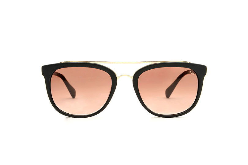 Melville acetate/metal  black sunglasses by GIGI Studios
