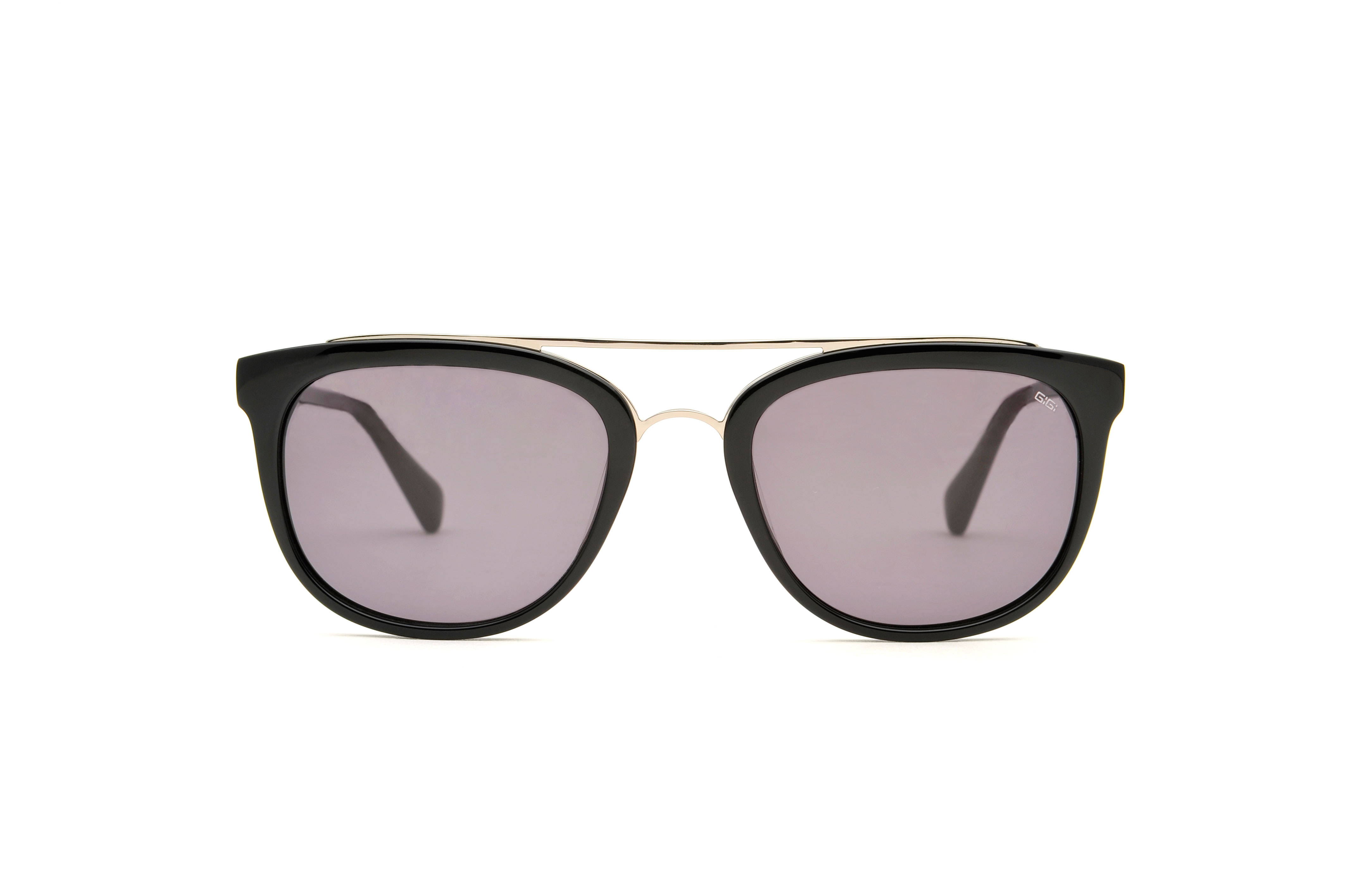 Melville acetate/metal aviator black sunglasses by GIGI Studios