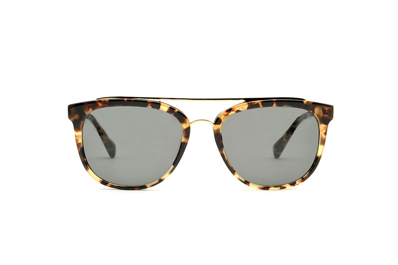 Melville acetate/metal aviator tortoise sunglasses by GIGI Studios