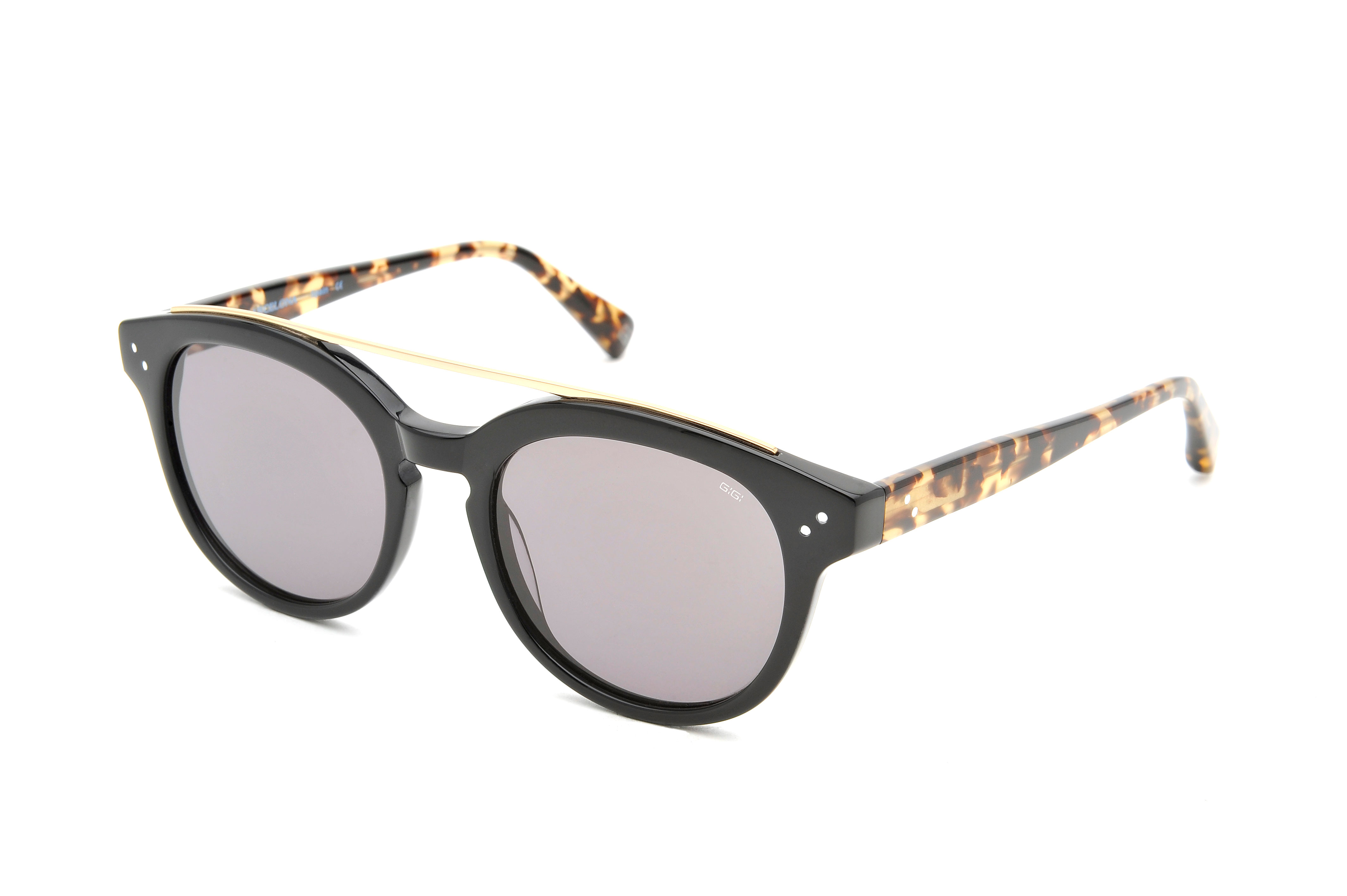 Island acetate aviator black sunglasses by GIGI Studios