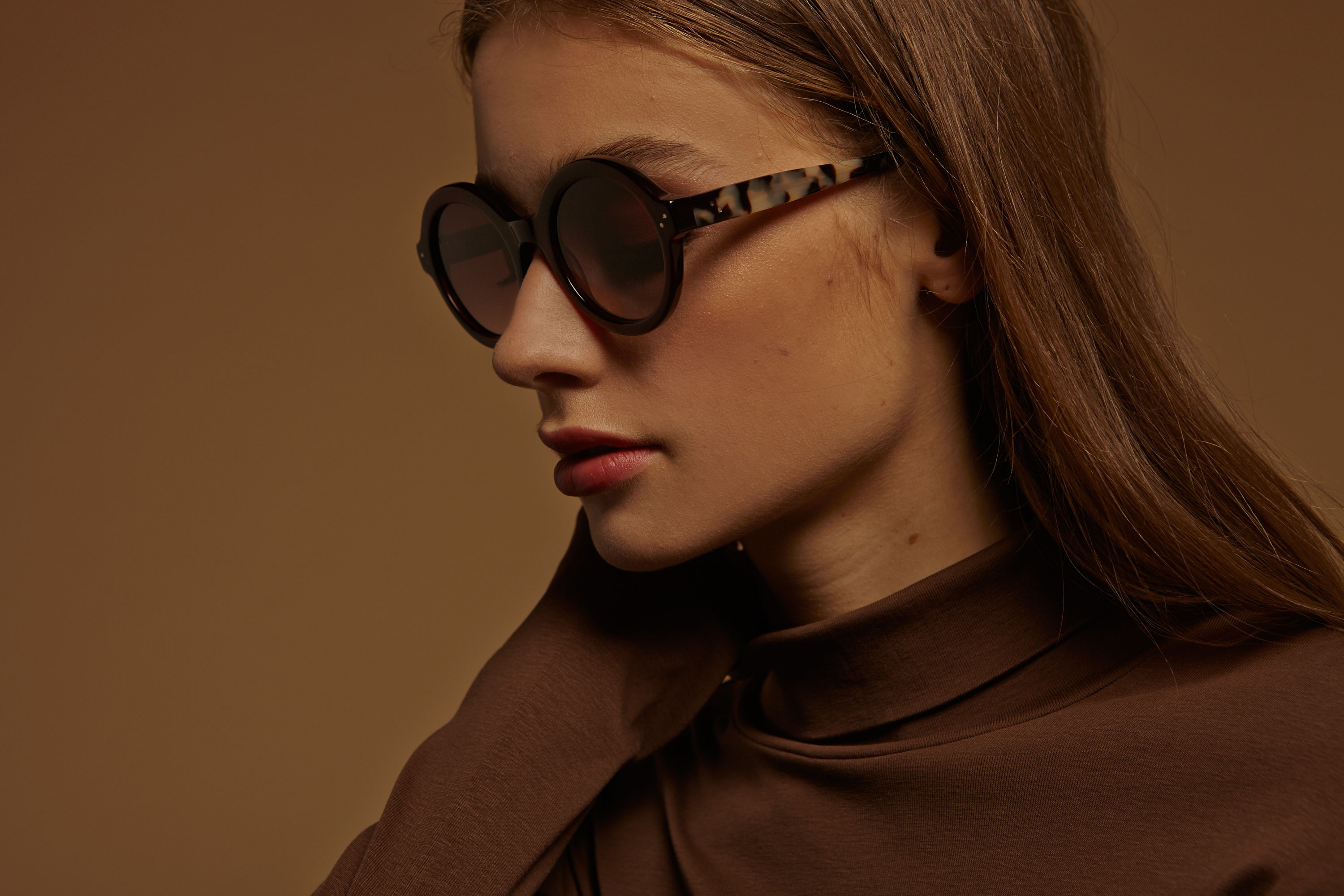 Bianca acetate rounded red sunglasses by GIGI Studios