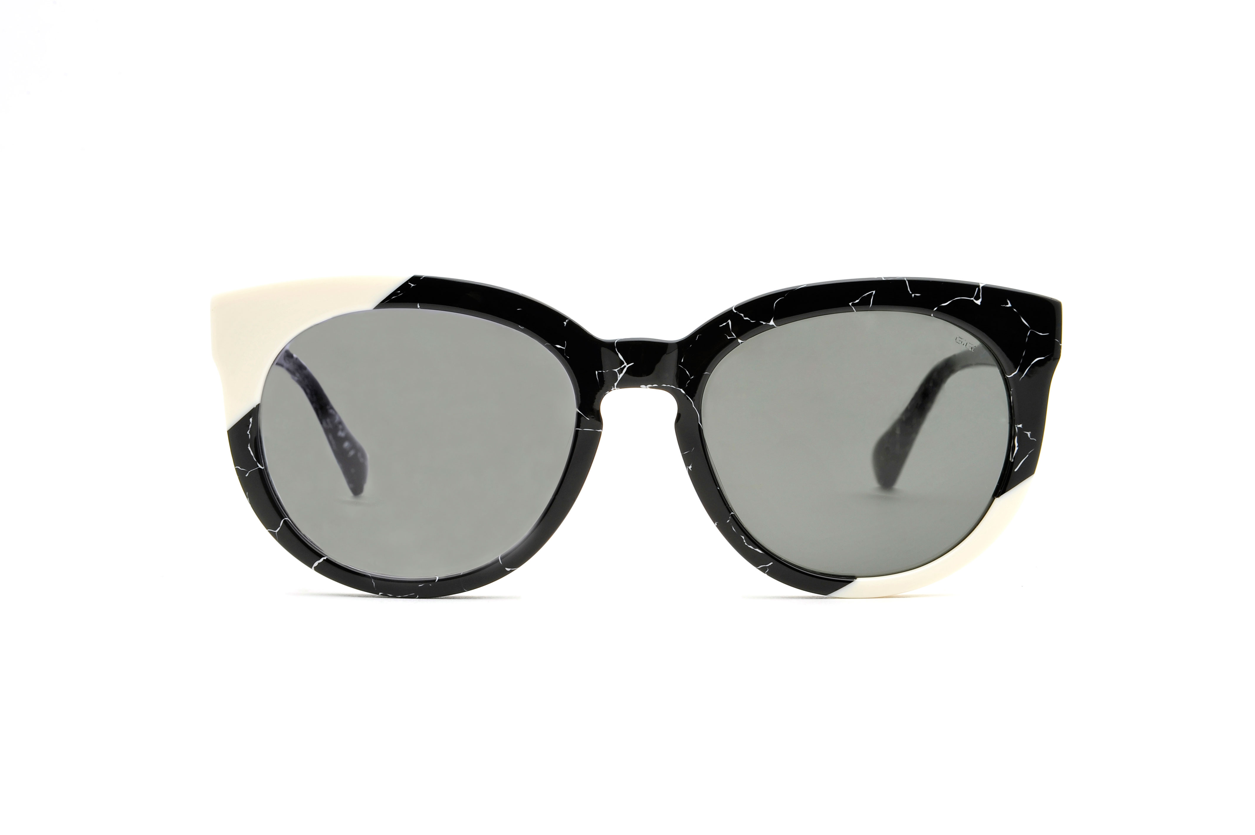 Marian acetate cat eye black sunglasses by GIGI Studios