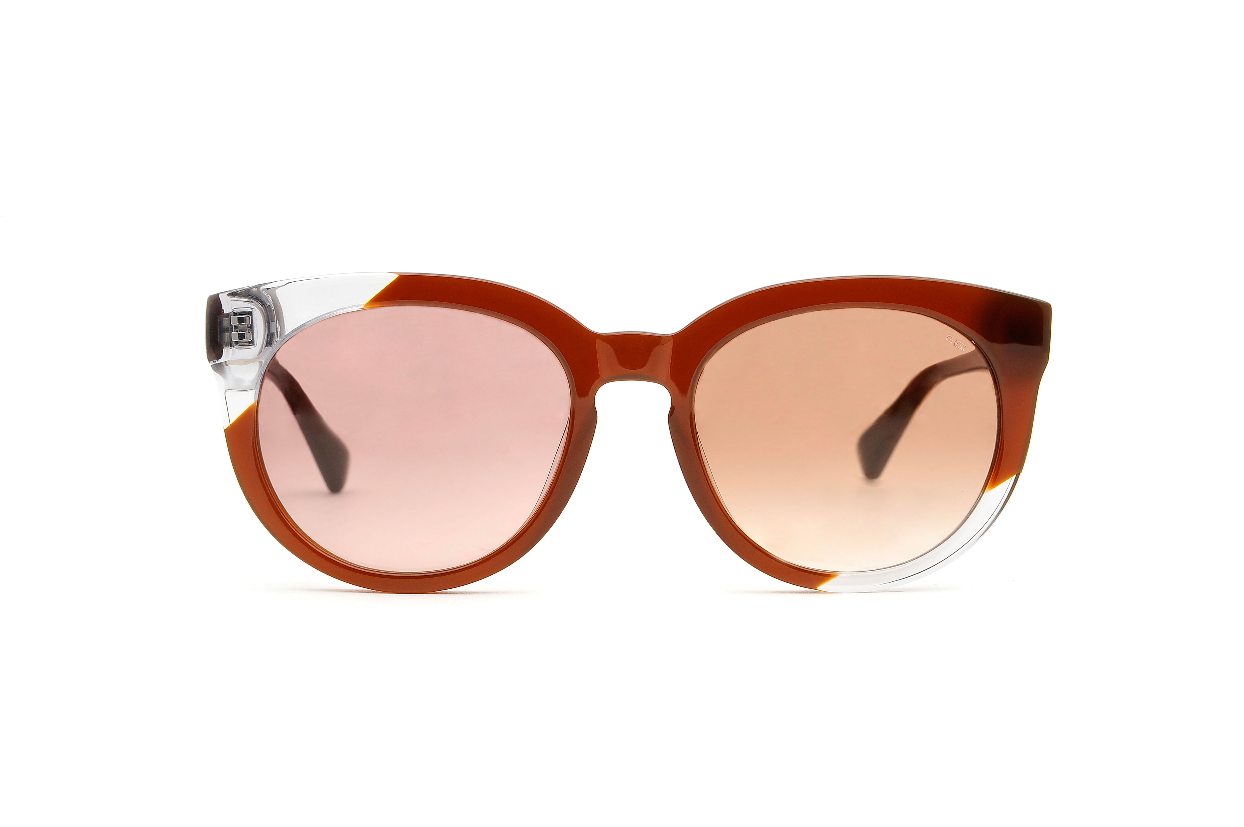 Marian acetate cat eye brown sunglasses by GIGI Studios