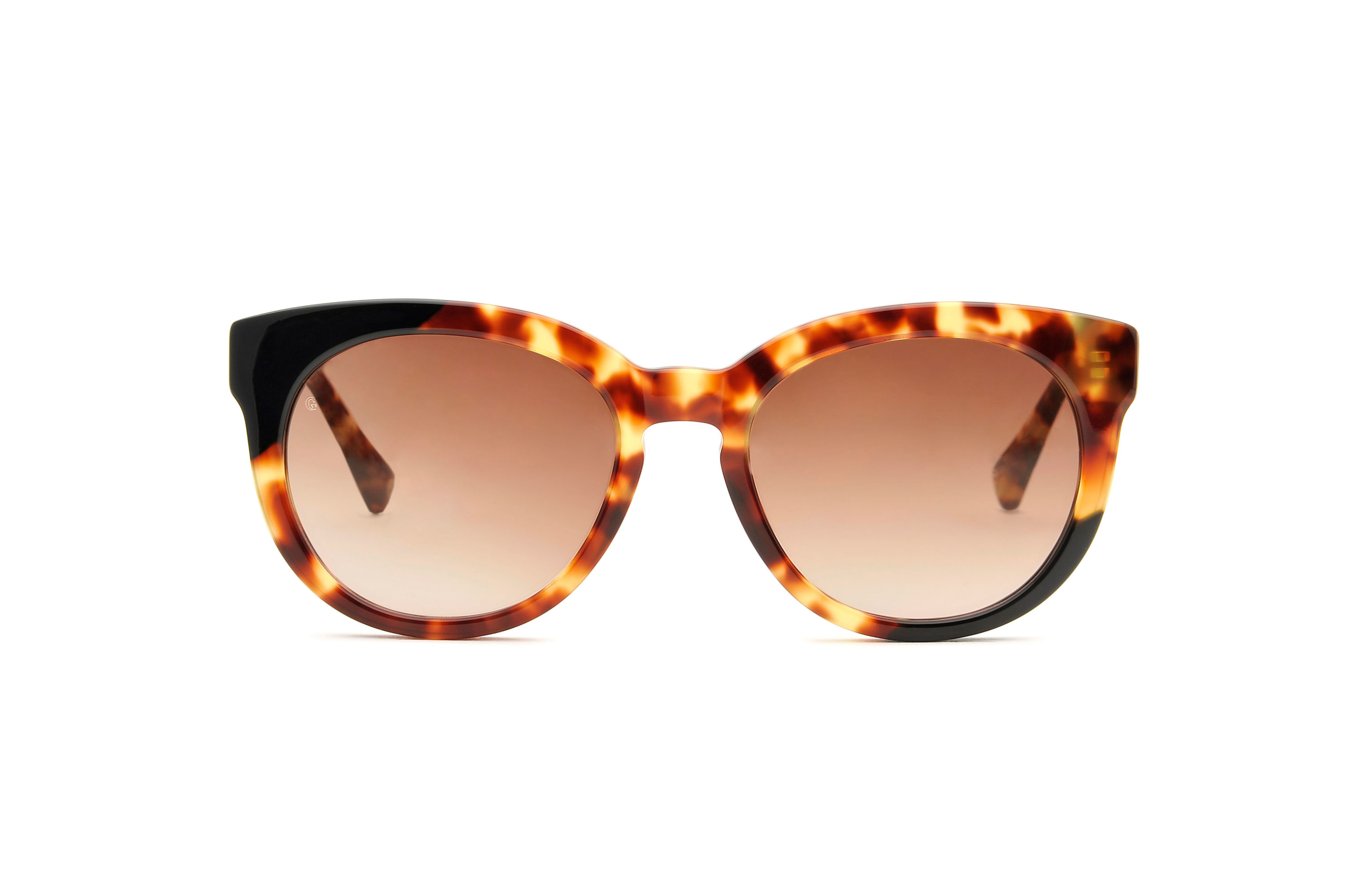 Marian acetate cat eye tortoise sunglasses by GIGI Studios